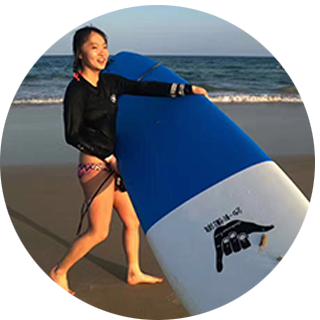 <br>Ziyi from Bejing<br>surf one month